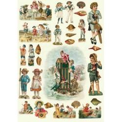 Papier 50 X 70 cm - CHR8 Dzieci nad morzem