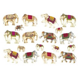 Papier ryżowy Calambour 06 - Indyjskie słonie