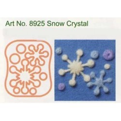 Forma do filcowania 3D - śnieżynki