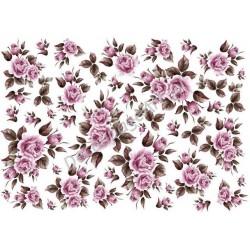 Papier ryżowy ITD Collection 031 - Róże ciemno-różowe