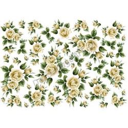 Papier ryżowy ITD Collection 032 - Żółte róże