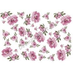 Papier ryżowy ITD Collection 035 - Róże malowane