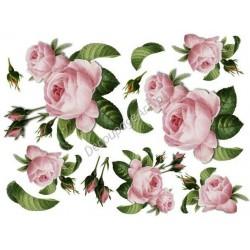 Papier ryżowy ITD Collection 036 - Róże serwetkowe duże