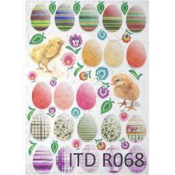 Papier ryżowy ITD Collection 068 - Łowickie pisanki