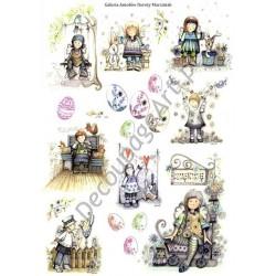 Papier ryżowy ITD Collection 076 - Wielkanocne aniołki Dorotki 2