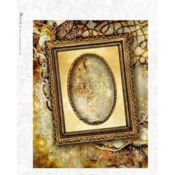 Papier ryżowy Kalit do decoupage album0030 Rama z owalem