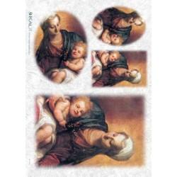 Papier ryżowy Kalit do decoupage spi0040 Madonna z dzieckiem 1