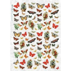 Papier ryżowy Kalit do decoupage ani0027 Motyle 2