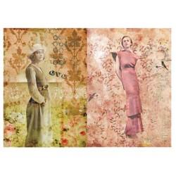 Papier ryżowy do decoupage Digital Collection 057 Dwie kobiety