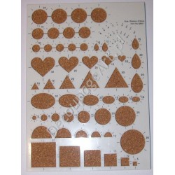 Szablon do quillingu - dużo kształtów