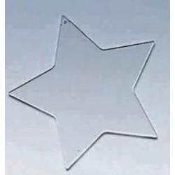 Płytka do zdobienia gwiazda 9,5 cm