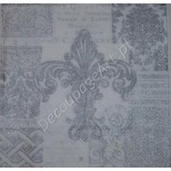Serwetki do decoupage IHR - Fleur de lis silver