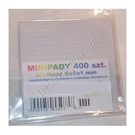 Minipady - taśma piankowa dwustronna 400 elementów 1 mm