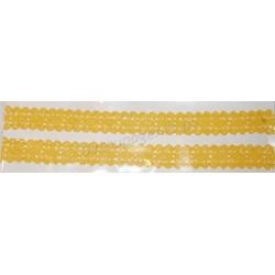 Tasiemka bawełniana koronkowa samoprzylepna 214 żółta