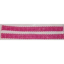 Tasiemka bawełniana koronkowa samoprzylepna 223 pink