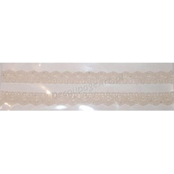 Tasiemka bawełniana koronkowa samoprzylepna 101 ecru