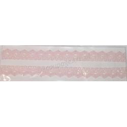 Tasiemka bawełniana koronkowa samoprzylepna 126 jasno-różowy