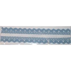 Tasiemka bawełniana koronkowa samoprzylepna 137 niebieski pastel