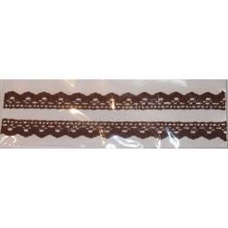 Tasiemka bawełniana koronkowa samoprzylepna 170 brązowy