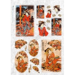 Papier ryżowy Kalit do decoupage fig0003 Oriental