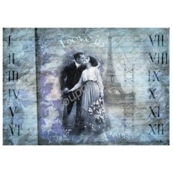 Papier do decoupage Digital Collection DGE94 - Love in Paris