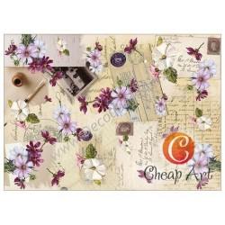 Papier do decoupage soft Cheap-Art A3 Polne zapiski