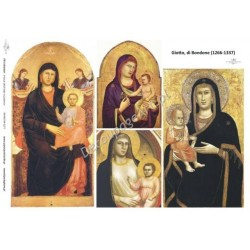 Papier do decoupage ITD 277 - Ikona Giotto