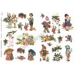 Papier do decoupage ITD 312 - Świąteczne dzieci