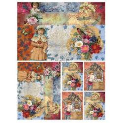 Papier ryżowy do decoupage Digital Collection 062 Dzieci
