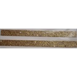 Tasiemka brokatowa z gwiazdkami złota
