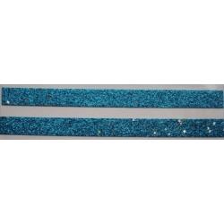 Tasiemka brokatowa z gwiazdkami niebieska