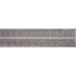 Tasiemka bawełniana koronkowa metaliczna srebrna