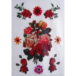 Kalkomania artystyczna róże