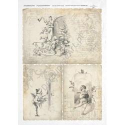 Papier ryżowy ITD Collection 190 - Świąteczne dzieci