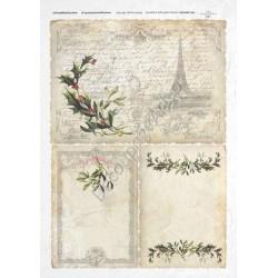 Papier ryżowy ITD Collection 195 - Świąteczny Paryż