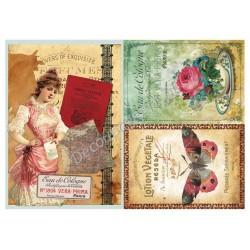 Papier ryżowy do decoupage Digital Collection 098 Eua de Cologne