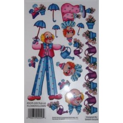 Kalkomania artystyczna - Flower/Clown