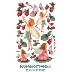 Kalkomania artystyczna - Raspberry Fairies