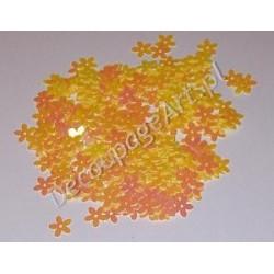 Cekiny kwiatki opalizujące 14 żółte 6gr