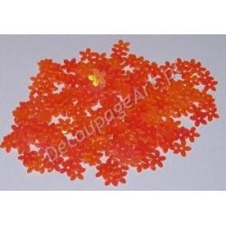 Cekiny kwiatki opalizujące 17 jasno-pomarańczowe 6gr