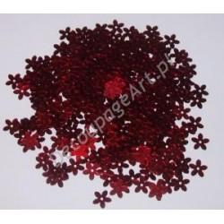 Cekiny kwiatki metaliczne 20 czerwone 6gr