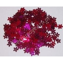 Cekiny kwiatki metaliczne 23 różowe 6gr