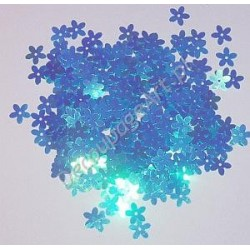 Cekiny kwiatki opalizujące 30 niebieskie 6gr