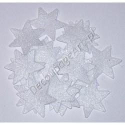 Gwiazdki z filcu białe 20 szt.