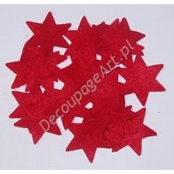 Gwiazdki z filcu czerwone 20 szt.