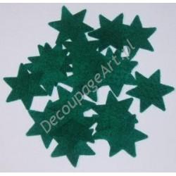 Gwiazdki z filcu zielone 20 szt.