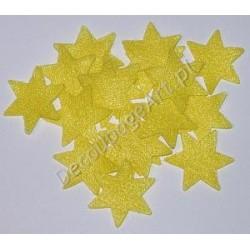 Gwiazdki z filcu żółte 20 szt.