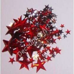 Kryształki dekoracyjne gwiazdy mix - czerwone