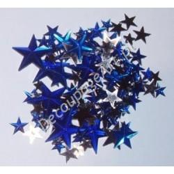 Kryształki dekoracyjne gwiazdy mix - niebieskie