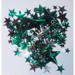 Kryształki dekoracyjne gwiazdy mix - zielone